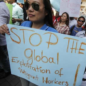 Protest in Lebanon for migrant workers rights, 2011