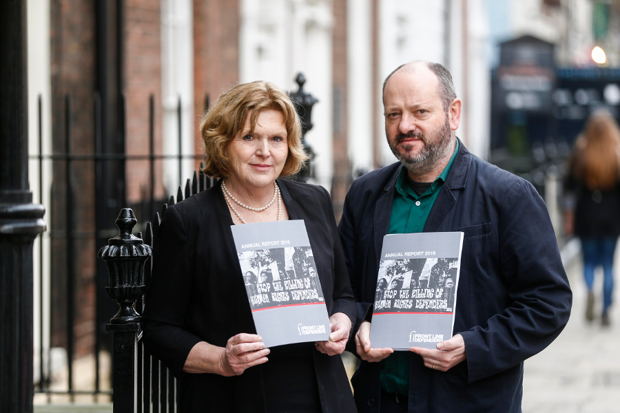 Andrew Anderson and Mary Lawlor, launch of the 2016 Annual Report