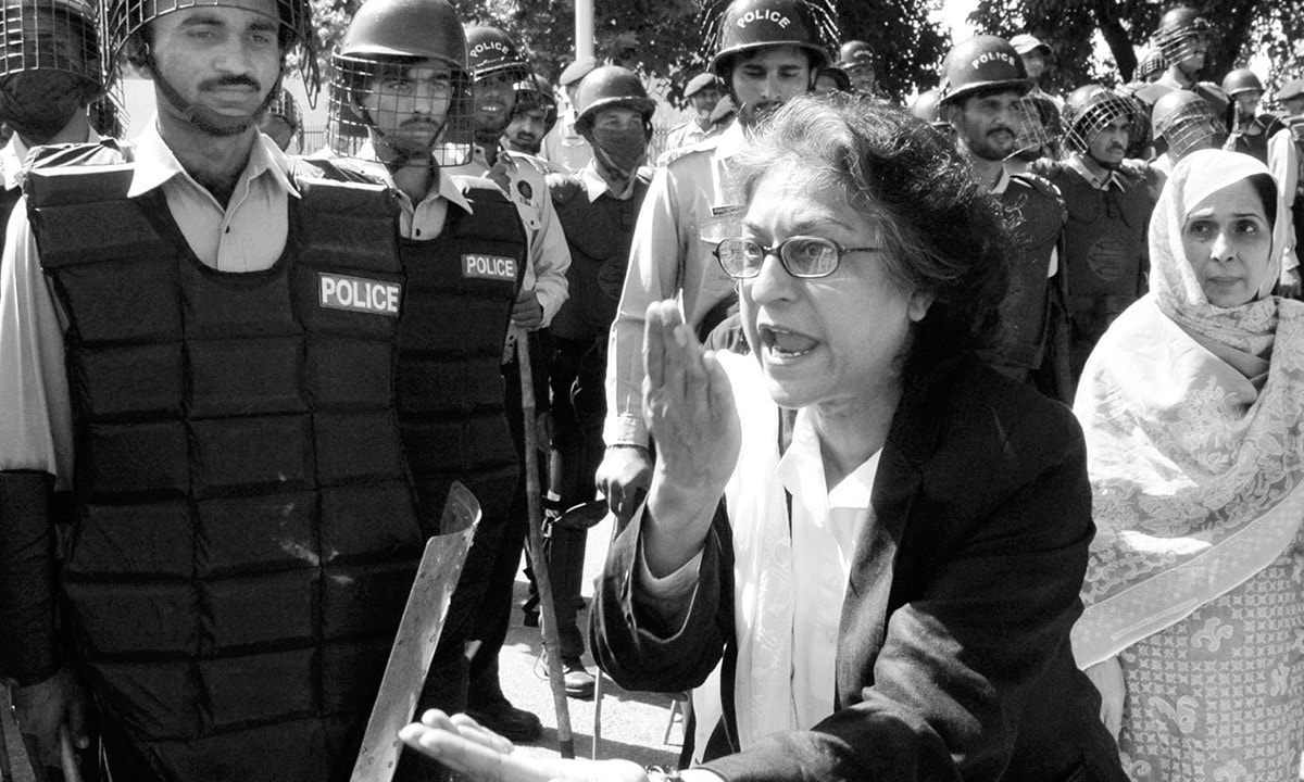 Asma Jahangir in Protest
