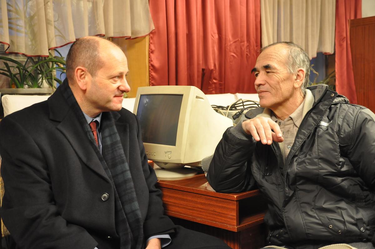 Andrew Anderson Visiting Azimjan Askarov in Prison in Kyrgyzstan