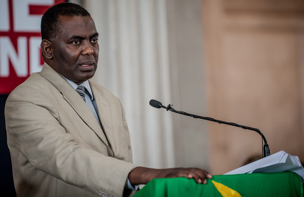 Biram Dah Abeid at Podium
