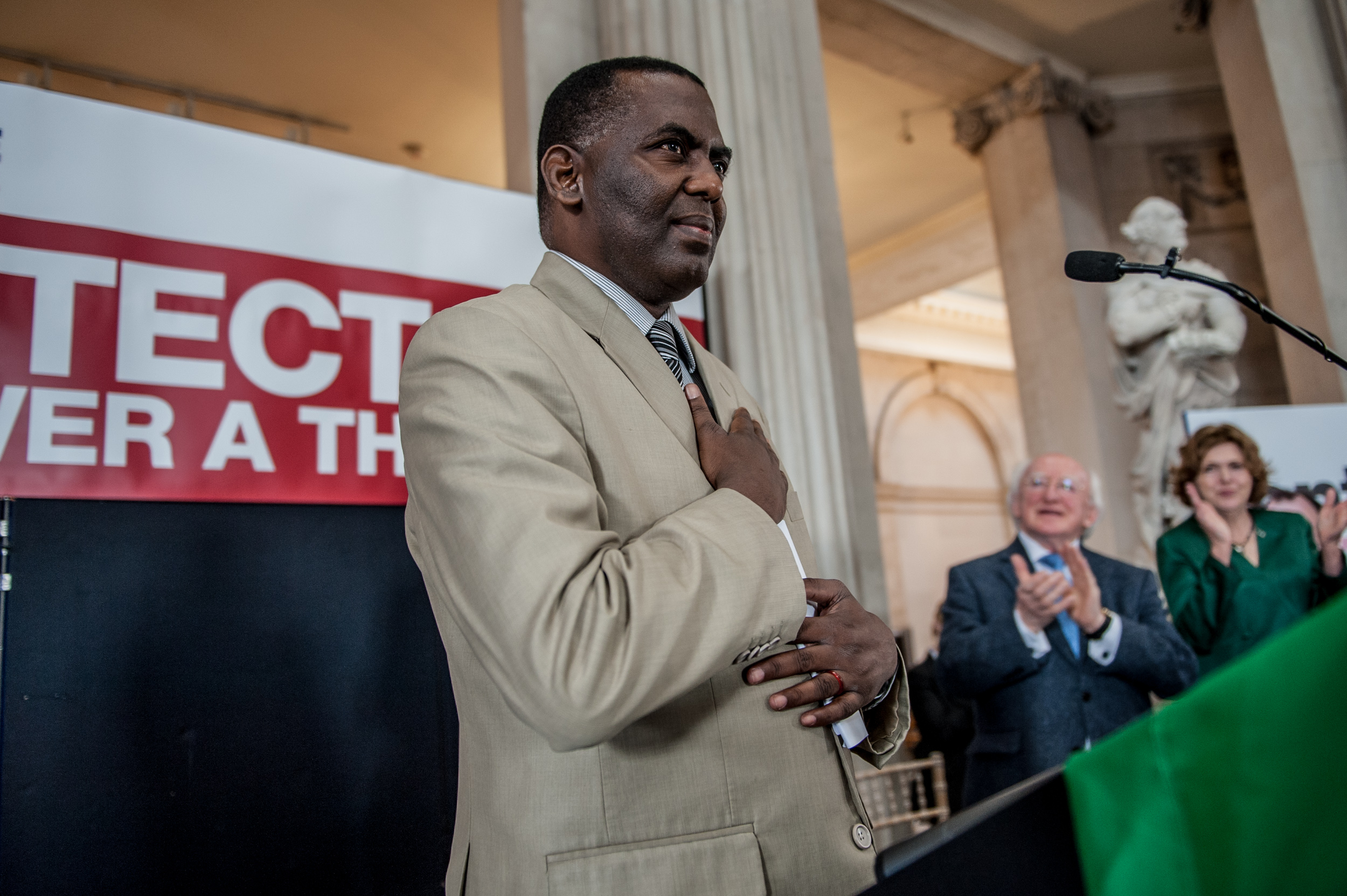 Biram Dah Abeid receiving 2013 Front Line Defenders Award