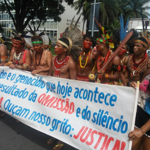Indigenous people protest, Brazil 2016