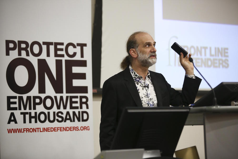 Bruce Schneier presenting the 2014 Annual Lecture