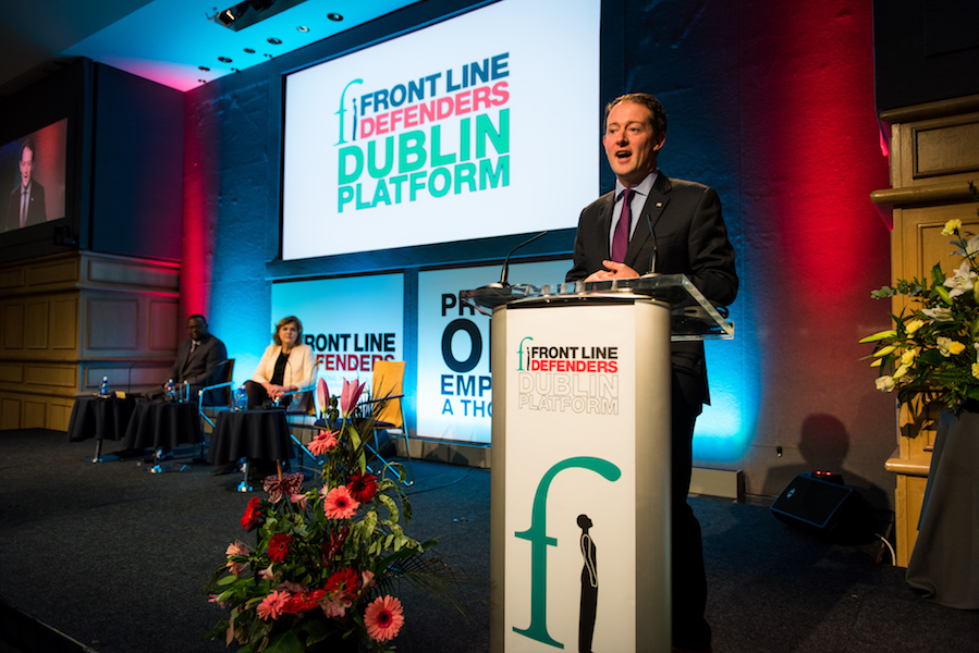Minister Seán Sherlock speaking at 2015 Dublin Platform