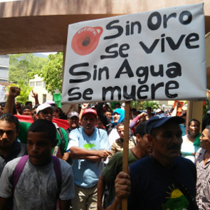 Environmental HRD protest - Honduras CIPRODEH