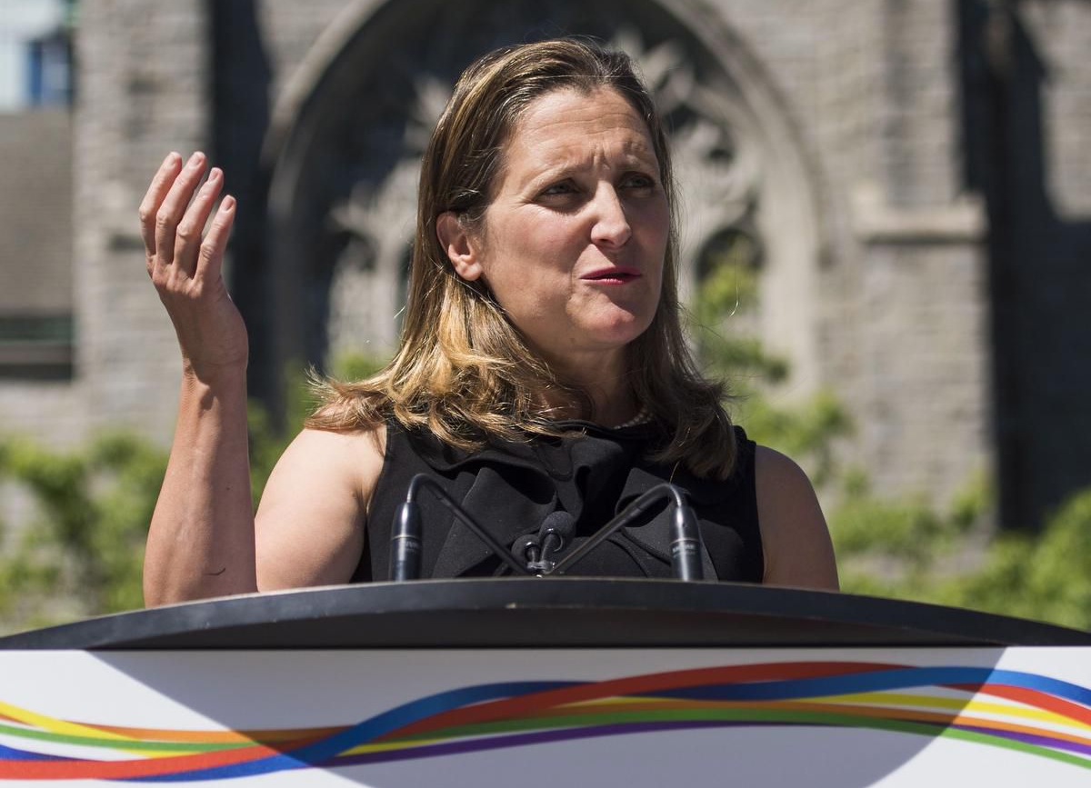 Foreign Affairs Minister Chrystia Freeland adressing the tension with Saudi Arabia_Cred_JIMMY JEONG - THE CANADIAN PRESS