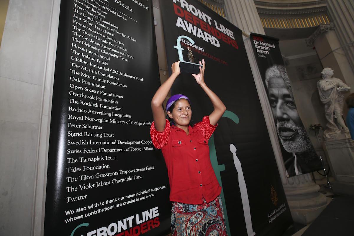 Ana Mirian Romero, 2016 Front Line Defenders Award Winner