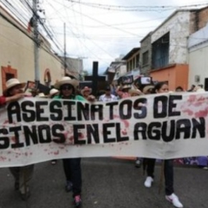 Protest in the Aguan Valley against killings of campesino leaders