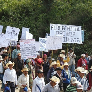 Anti-mining protest in Huehuetenango, 2014