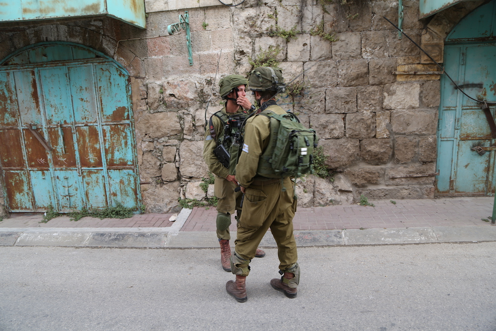 Israeli Soldiers Patrolling Streets of Old City in Hebron