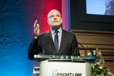 Michel Forst speaking at 2015 Dublin Platform