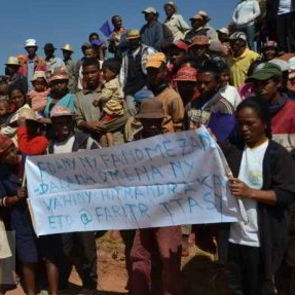Protest in Soamahamanina, Madagascar. August 2016. Credit: L'Express