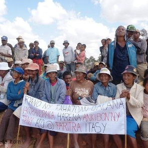 Protest in Soamahamanina, Madagascar. August 2016. Credit: NewsMada