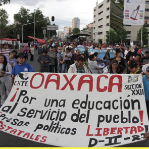 Protest in Oaxaca, June 2016