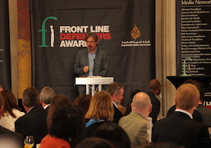 Sebastian Barry presenting the 2015 FLD Award