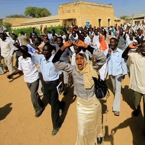 Student protest in Khartoum, Sudan
