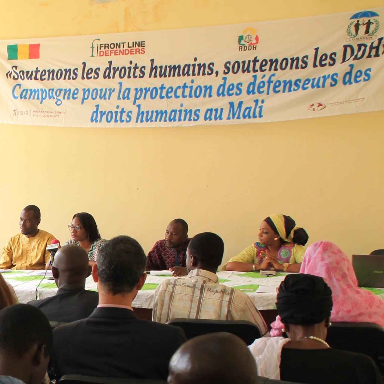Press conference Bamako - October 2017